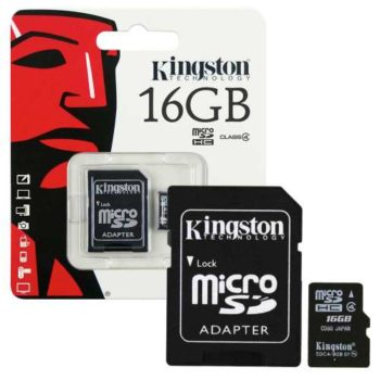 Carte Micro SD Kingston 16GB class 10