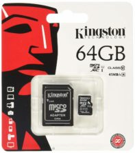 Carte Micro SD Kingston 64GB class 10